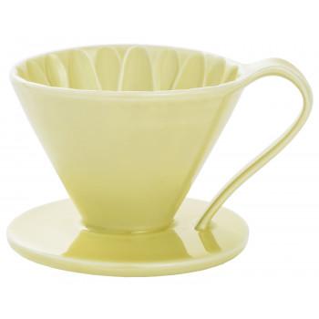 CAFEC Dripper Arita cone flower 1-cup ylw CFD1YE