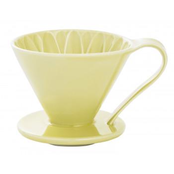 CAFEC Dripper Arita cone flower 4-cup grn CFD4YE