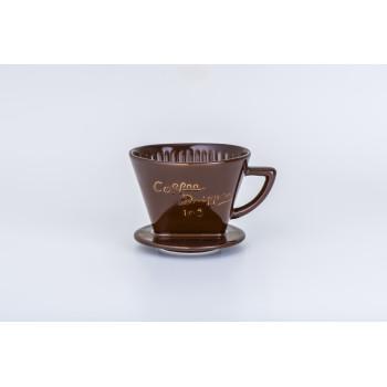 CAFEC Dripper Arita trapezoid 3-5 cup 102 brn G102BR