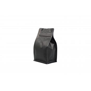 Coffee Bag Box Bottom valve & zipper 250gmatte black 100pcs