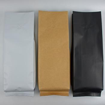 Coffee Bag Side Gusset valve 1kg kraft 100pcs