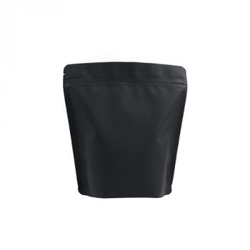 Coffee Bag Side Stand up valve+zipper 250gr black 100pcs