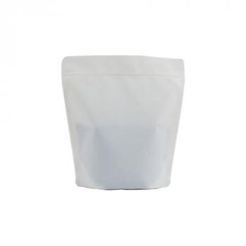 Coffee Bag BIO Stand up valve+zipper 250gr white 100pcs