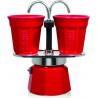 BIALETTI Mokapot Set Mini Express & cups 2-cup red
