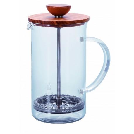 HARIO Tea Press Wood 600ml olive THW4OV